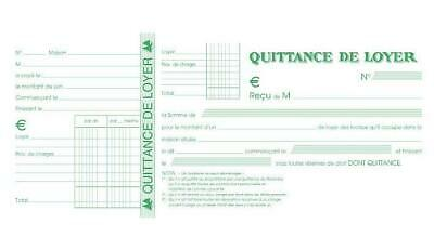 [Ref:42E-3] Lot de 3 carnets de 50 feuilles de Quittance de loyer 101x165mm