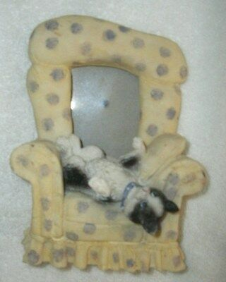 Ceramic cat in chair photo frame