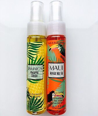 Bath & Body Works Antibacterial Hand Sanitizer Spray Jamaica Colada, Maui Mango