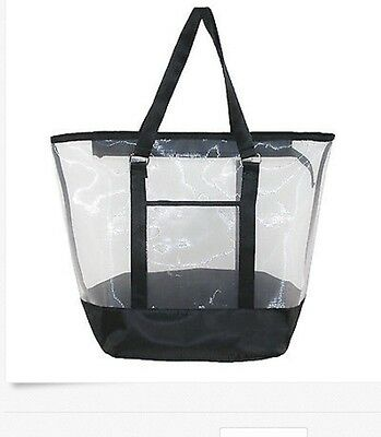 New CTM Women's Zip Top Tote Bag