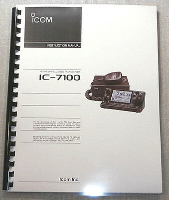 Icom IC-7100 Instruction Manual - Premium Card Stock & Protective Covers!