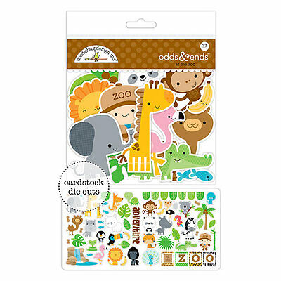 Doodlebug Design At the Zoo Odds and Ends Die Cut Cardstock Pieces 5600 2017