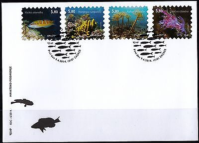 Croatia 2014 Undersea World Fish Plants FDC