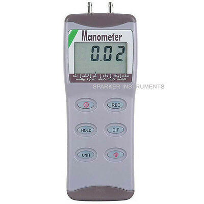 AZ-82100 Digital Manometer Differential Air Pressure Meter Gauge Tester 0-100psi