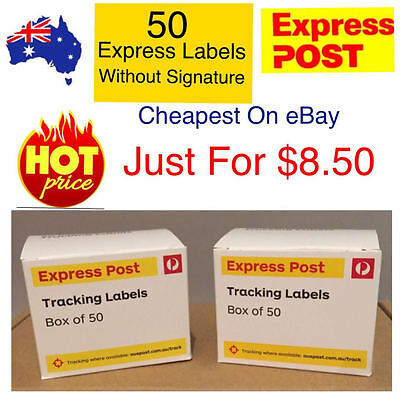 50x Australia post Express Tracking labels-- FAST DELIVERY