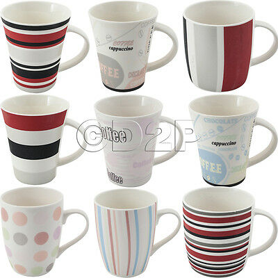 Set Of 4 Mugs Tea Coffee Cups Ceramic Mug Cup Gift New Fine China Kitchen Drink
