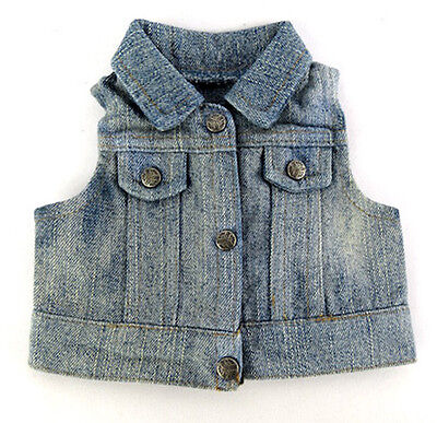 """Jean Jacket Denim Vest fits 18"""" American Girl Doll Clothes Accessories"""
