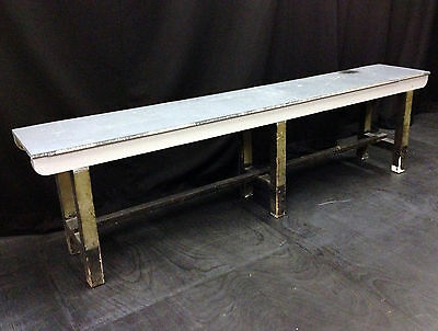 Vintage Industrial Long Artists Work Bench Table