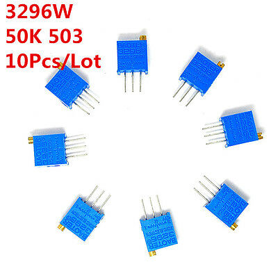 10pcs 3296W 50K Ohm Ω 503 Trim Pot Trimmer Potentiometer High Precision 3296