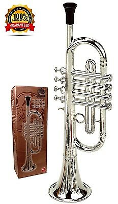Trumpet Kids Musical Instrument Childrens Horn Educational Toy Fun Deluxe Learn
