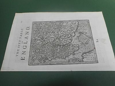 100% Original South East England  Map By Mercator C1637 Scarce Vgc Low Postage