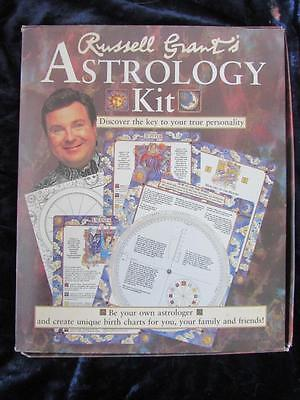 RARE - RUSSELL GRANT'S ASTROLOGY KIT. Complete set