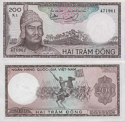 Vietnam-South 200 Dong Banknote 1966 About Uncirculated Condition Cat#20-A-1961