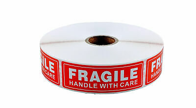 8 Rolls 1 x 3 FRAGILE HANDLE WITH CARE Stickers (1000 Per Roll)