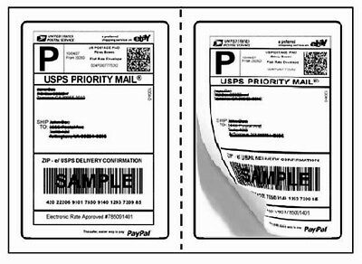 "Perforated 1000 Quality Round Corner Shipping Labels 2/Sheet 7.5"" x 5.125"""