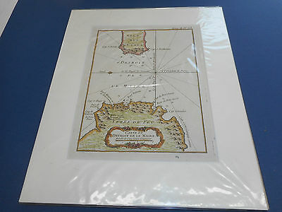 100% Original Chart Of La Maire Tierra Del Feugo Coast Map By Bellin  C1720 Vgc