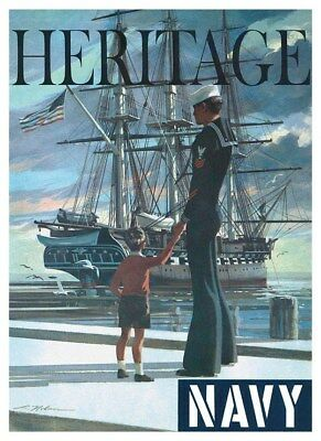 US Navy USS Constitution Old Ironsides Heritage Recruiting Poster Free Shipping