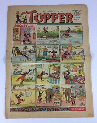Lot #33 Vintage The Topper Magazine Number 237 July 27th 1957