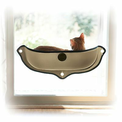 Cat Bed - K&H EZ Mount Window Mod Bed Tan 27 x 20 inches