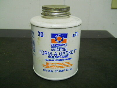 Permatex 80017 Aviation Form-A-Gasket No. 3 Sealant, 16 oz.