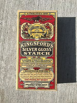 Vintage Kingsford's Silver Gloss Starch Unopened Box