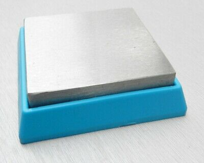"""BEAD BUDDY BENCH BLOCK STEEL RUBBER CUSHION BASE 2-1/2"""" SQUARE ANVIL 3/4"""" Thick"""