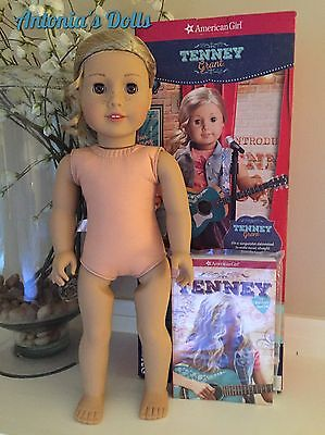 """American Girl 18"""" Doll Tenney Grant Nude with Book COMES NEW IN BOX NO OUTFIT"""