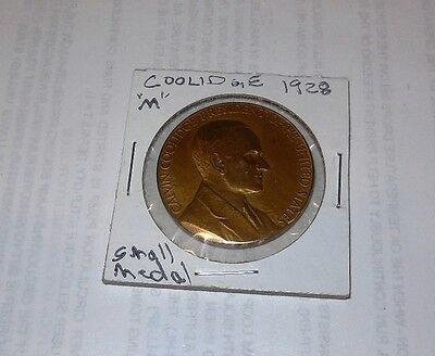 "1928 COOLIDGE Medal, Small format ""M"""