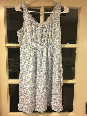 motherhood maternity Sleepwear Size Medium Light Blue With Flowers