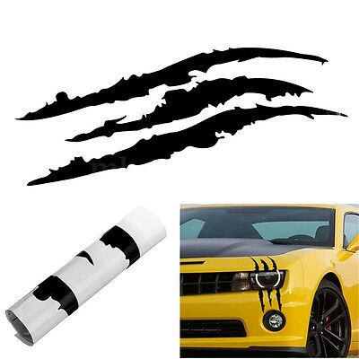 Reflective Black Scratch Stripe Headlight Car Truck SUV Vinyl Decal Sticker