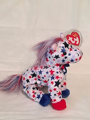 TY Beanie Baby - LEFTY 2004 the Donkey - Pristine with Mint Tags - RETIRED