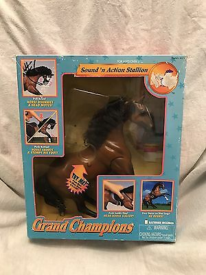 Grand Champions 1995 Sound N Action Stallion W/ Box. Saddle  missing.  Tested