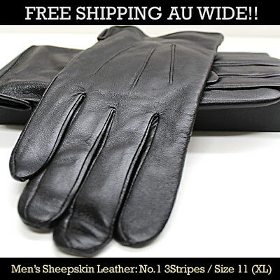 100%  Sheep Skin Leather Gloves - Men and Women's Size Various Design- Free Ship