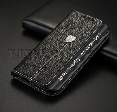 Luxury Genuine Leather Flip Wallet Phone Case Cover For Samsung Galaxy S6 Edge