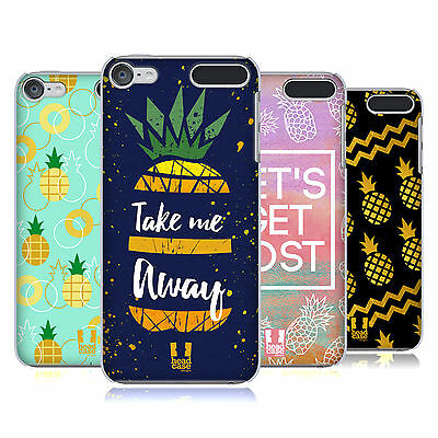 HEAD CASE DESIGNS PINEAPPLE PRINTS HARD BACK CASE FOR APPLE iPOD TOUCH MP3