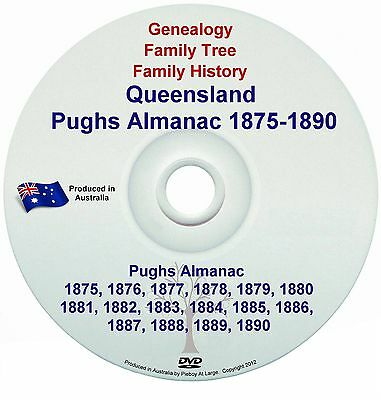 Family History Genealogy Queensland Pughs Almanac 1875 Directory Names Towns NEW