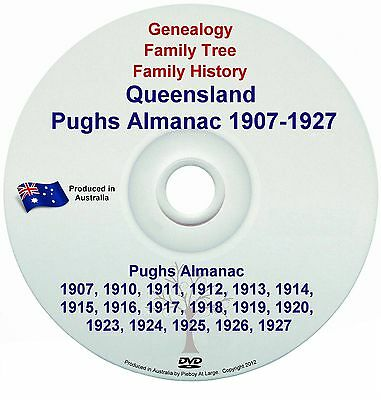 Family History Genealogy Queensland Pughs Almanac 1907 Directory Names Towns NEW