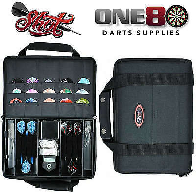 Shot Darts, Tournament Pack Darts Case, Dart Wallet, Darts Accessories, Black