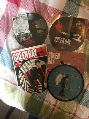 """Green Day Picture Disc 7"""" Wake Me When September Ends Holiday American Idiot"""