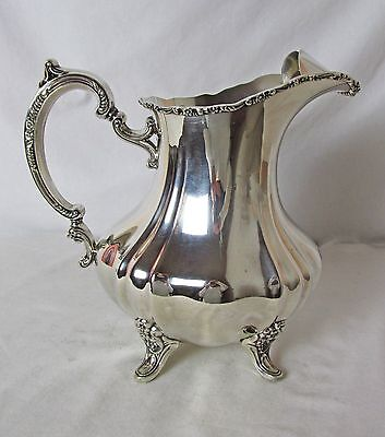Poole Silver Plated Water Pitcher Lancaster Rose Pattern Very Popular