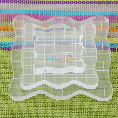 Square Block Scrapbooking Acrylic Transparent Clear Stamp Pad DIY Craft Tool NEW