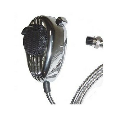 Crt Mc King Metal Look Cb Microphone With 4 Pin Plug Uniden Wiring