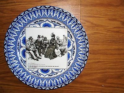 Royal Doulton Gibson Girl Failing to Find Rest & Quiet in the Country Plate