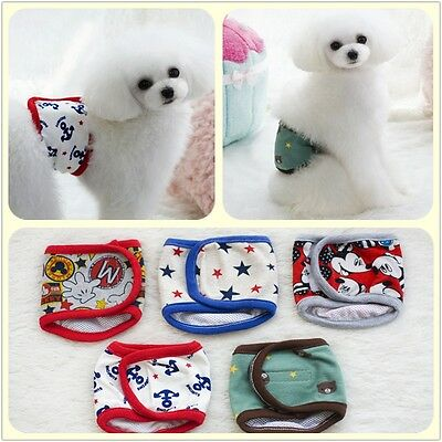 Dog Diaper Male Belly Band Wrap Reusable Washable 100% Cotton Dog Belly Band