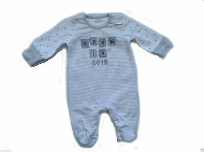 Next Baby Boy`s or Girl`s Sleepwear All in One White Size up to 1 month