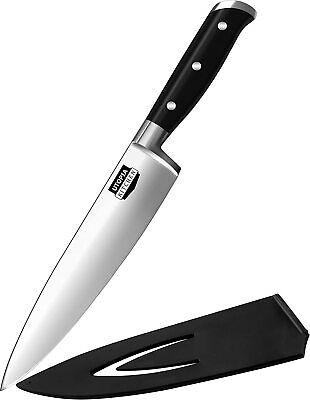 Chef Knife with Breakage Free Stainless Steel Handle 8 Inch by Utopia Kitchen