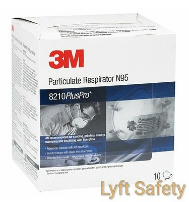 3M 8210PlusPro N95 Particulate Respiratory Protection Half Face Mask ~PICK SIZE