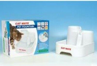 Pet Mate Cat Mate - Fresh Water Drinking Fountain for Cats/Small Dogs