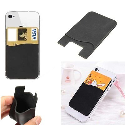 Silicone Mobile Phone Business / Credit CARD Holder For iPhone 5 SE 5s 6s 7 Plus