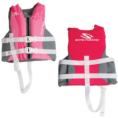 Stearns Child Hydroprene Life Jacket 30-50 Lbs Pink [2000019829]